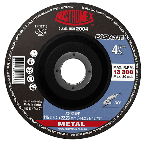 "DISCO C-2004 REALZ.DESB.METAL 4 1/2""x1/4""x7/8"" AUSTROMEX"