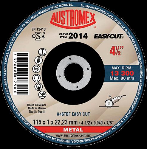 "DISCO C-2014 CTE METAL 4 1/2""x3/64""x7/8"" EASY-CUT"