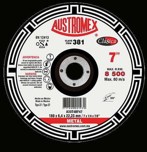 "DISCO C-381 REALZ.DESB.METAL 7"" X 1/4"" X 7/8"" AUSTROMEX"