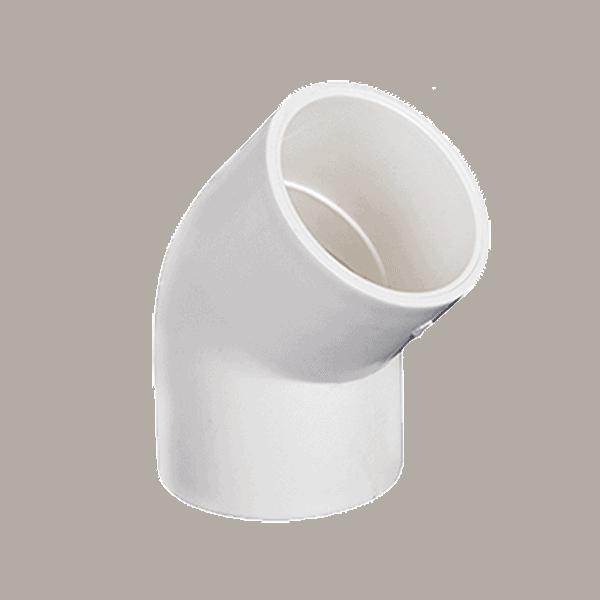 """CODO DE 45 PVC HIDRAULICO 1/2"""" 615389 IUSA"""