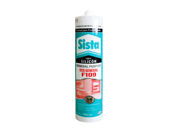 SILICON F109 USO GENERAL BLANCO 300ML SISTA 885654