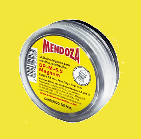 DIABOLO 5.5MM MAGNUM C/120PZ DPM-5.5 AMARILLO MENDOZA